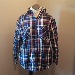 BOSTON TRADERS BUTTON UP FLANEL JACKET SIZE XL